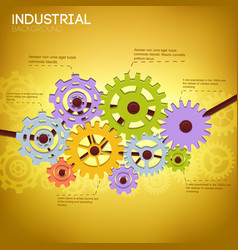 Industrial mechanism template vector