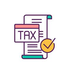 Involuntary fees rgb color icon vector
