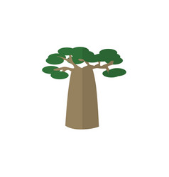 Isolated decoration tree flat icon baobab vector