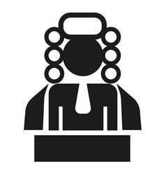 judge man icon simple style vector image