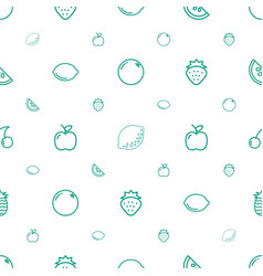 Juicy icons pattern seamless white background vector