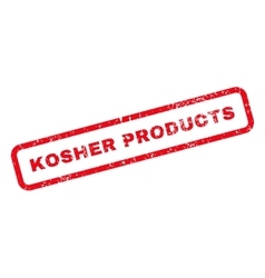 Kosher Products Text Rubber Stamp vector