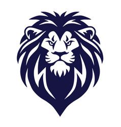 lion head logo icon sports mascot vector image