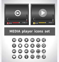 Media players on white background vector
