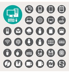 Mobile devices computer and network connections vector image
