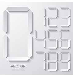 modern electronic numbers set vector image