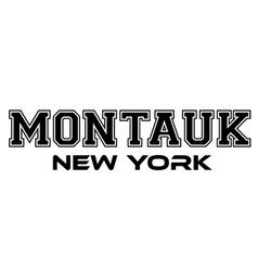 Montauk new york urban typography for silk screen vector
