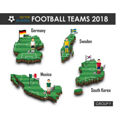 National soccer teams 2018 group f vector
