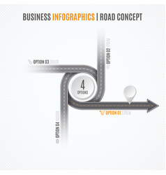 Navigation map infographic concept crossroad vector