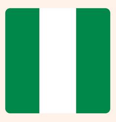Nigeria square flag button social media vector