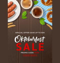 Oktoberfest sale advertisement flyer vector