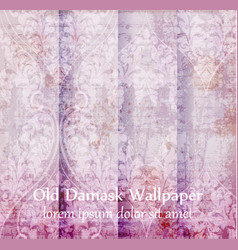 Old damask ornament set backgrounds vector