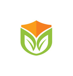 Organic shield logo vector