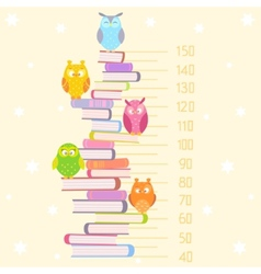 Owls on books vector image vector image