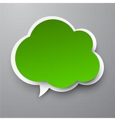 Paper green cloud vector