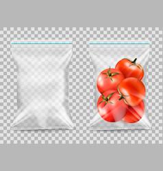 Polypropylene plastic packaging - nylon sack on vector