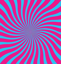 popular blue and pink twist rotate ray background vector image