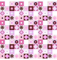 Quilting pattern seamless vector image