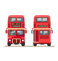 Red traditional london bus vector