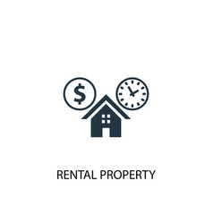 Rental property icon simple element vector