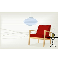 Retro-modern home vector