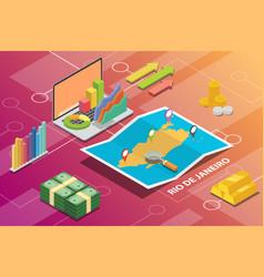 rio de janeiro brazil city isometric financial vector image