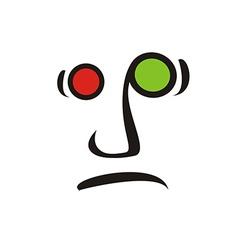 Sad icon vector