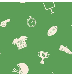 Seamless background with American football icons vector image
