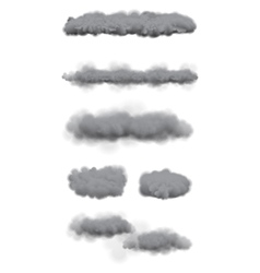 Set of Storm Clouds vector image