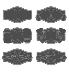 Set with boxing gloves vector
