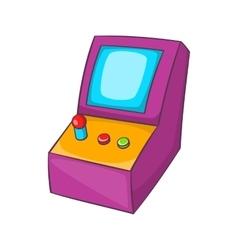 Slot machine icon cartoon style vector