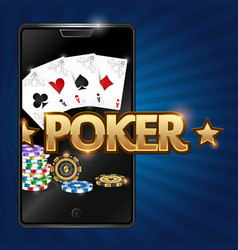 smartphone and poker vector image