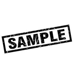 Square grunge black sample stamp vector
