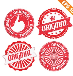 Stamp sticker original collection - - EPS10 vector image