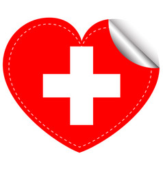 Sticker design for flag of switzerland vector