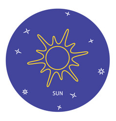 sun icon in thin line style vector image