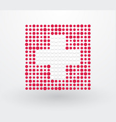 switzerland flag made up of dots vector image