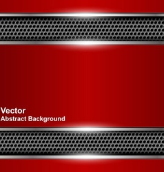 Technological abstract background metallic red vector