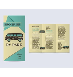 Travel and Camping Brochure Flyer design Layout vector image vector image