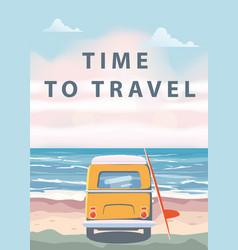 Travel trip ocean sea vector