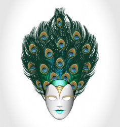 Vector peacock mask vector