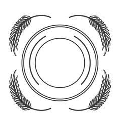 Wheat spike icon design vector