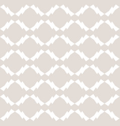 white and beige geometric seamless pattern vector image