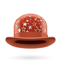 Brown starred bowler hat vector image vector image