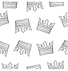 crown theme design pattern collection vector image vector image