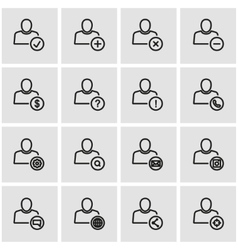 line people icon set vector image vector image