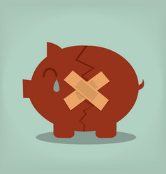 piggy bank economic depression vector image