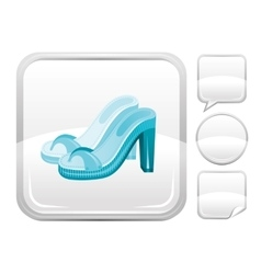 Sea beach and travel icon with fashion clogs on vector