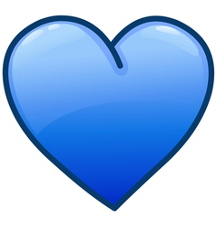 blue heart icon vector image