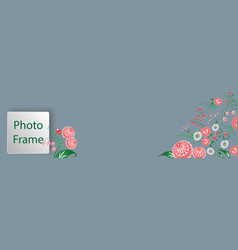 cover for web with floral ornament in the slavic vector image